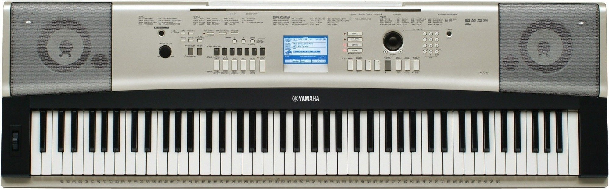 Ypg 535 overview yamaha canada english for Yamaha piano keyboard models